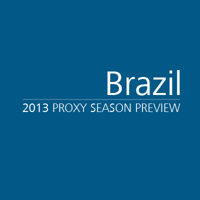 Brazil 2013 Proxy Season Preview