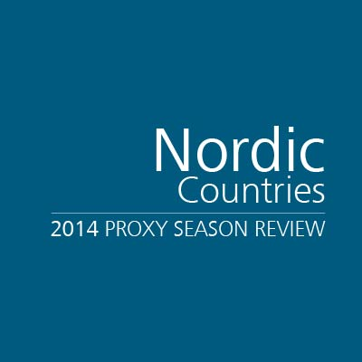 2014 Proxy Season Review: Nordic Countries