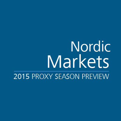 Nordic Markets 2015 Proxy Season Preview