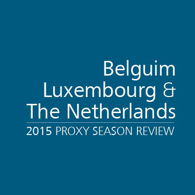 2015 Proxy Season Review: Belgium, Luxembourg & the Netherlands