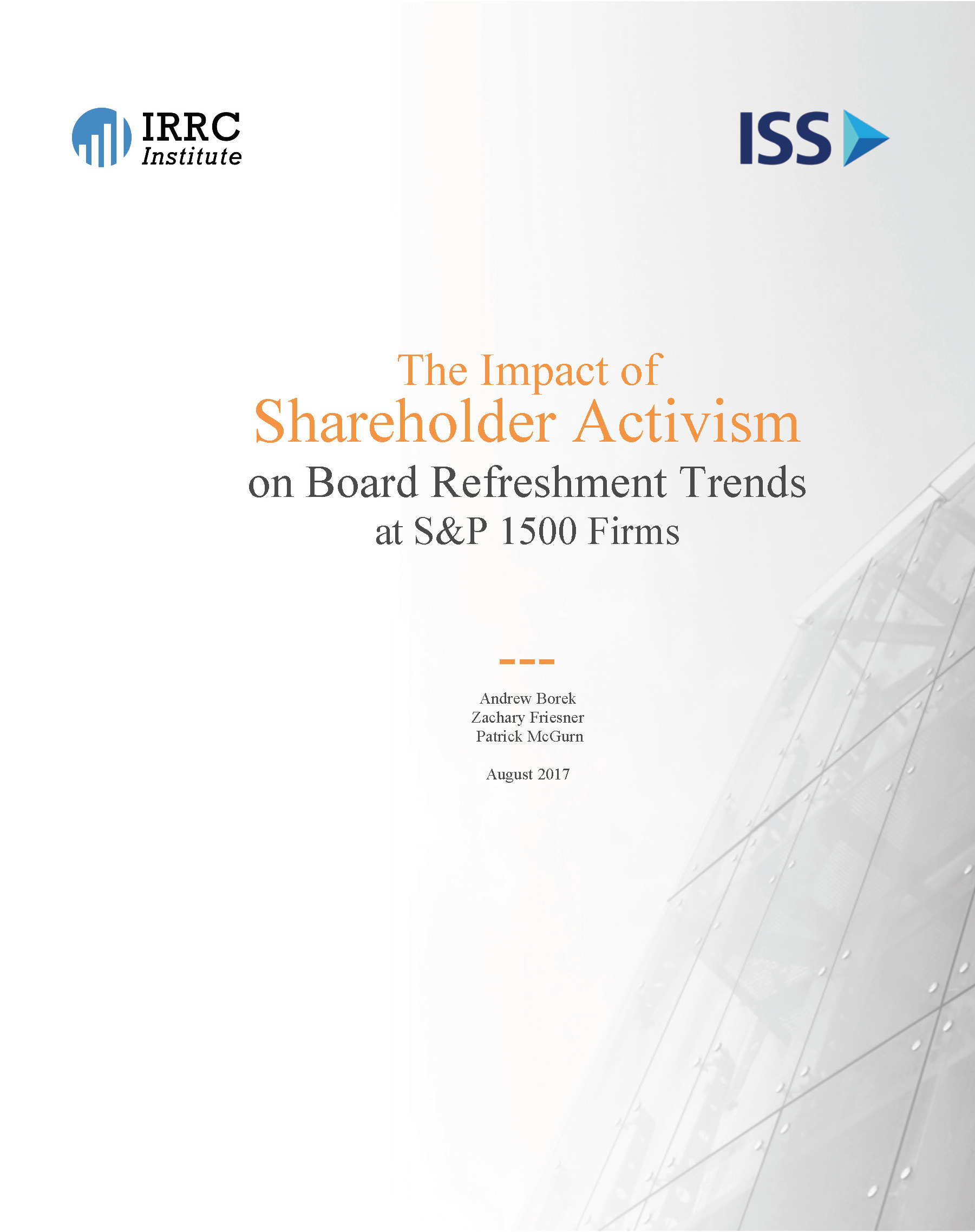 The Impact of Shareholder Activism on Board Refreshment Trends at S&P 1500 Firms