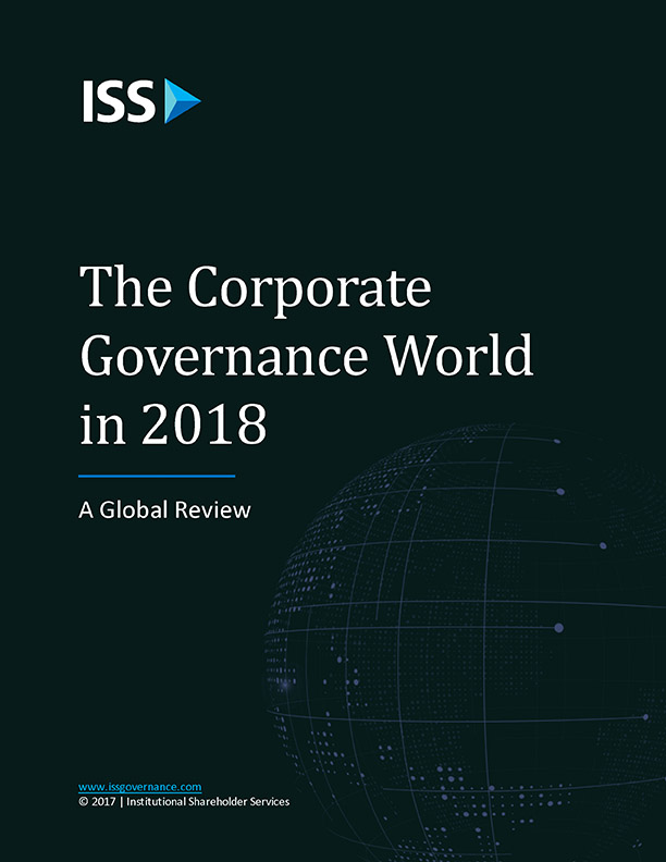 The Corporate Governance World in 2018