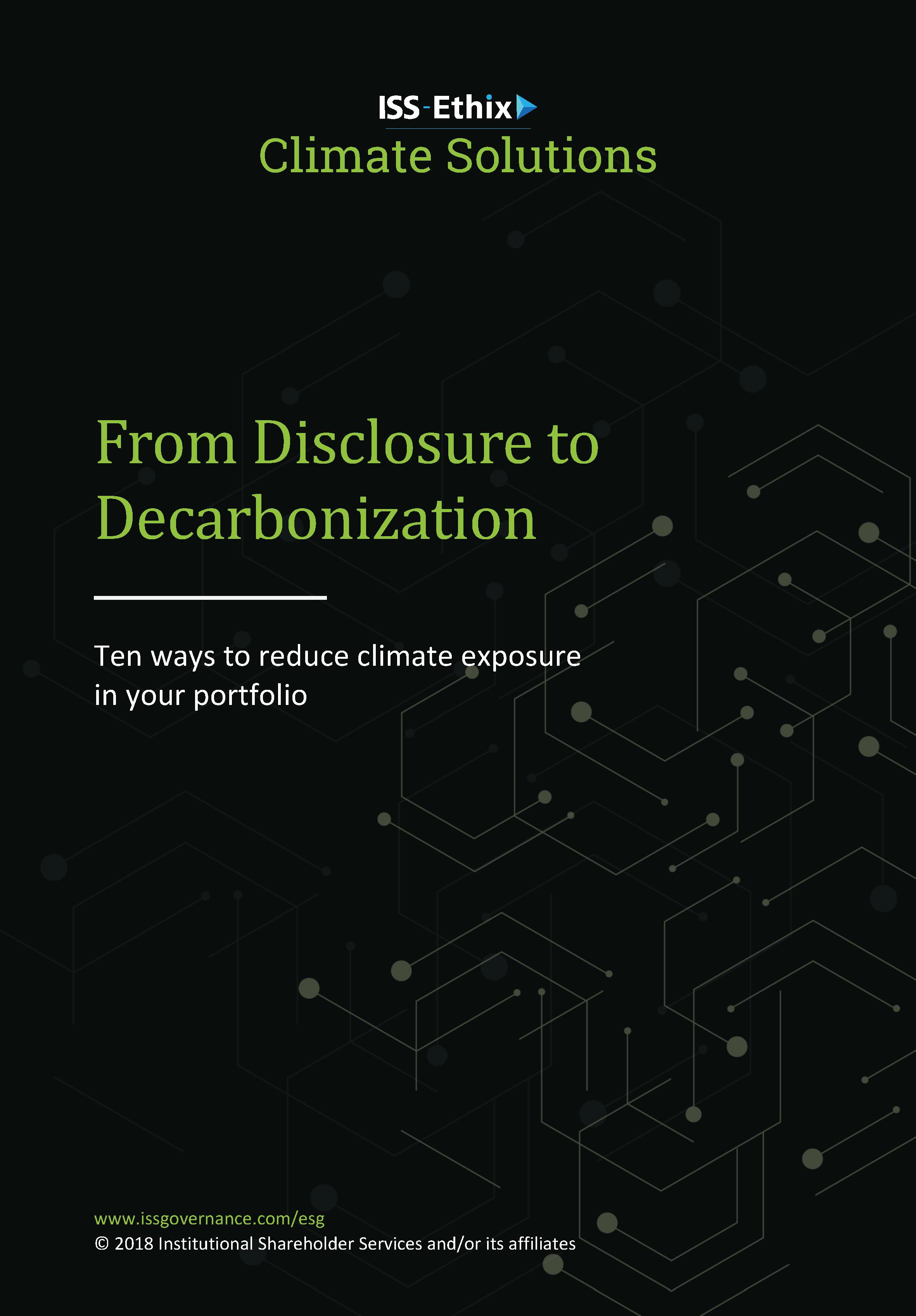 Disclosure to Decarbonization
