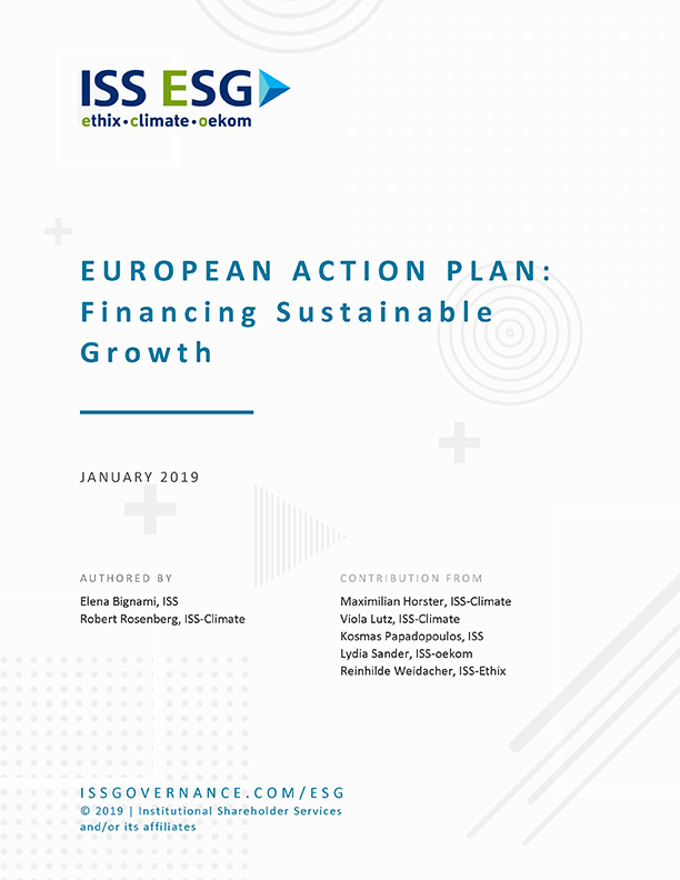 European Action Plan: Financing Sustainable Growth