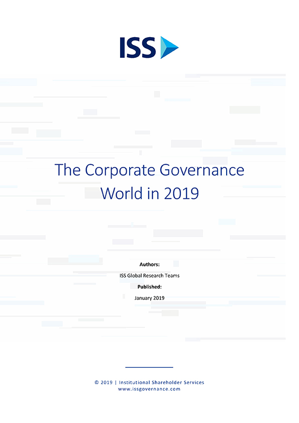 The Corporate Governance World in 2019