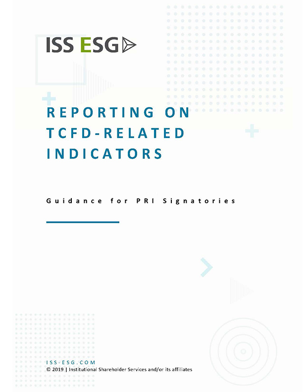 Reporting on TCFD-Related Indicators