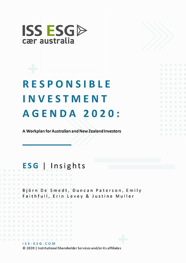 Responsible Investment Agenda 2020