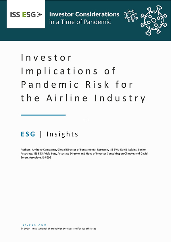 Investor Implications of Pandemic Risk for the Airline Industry