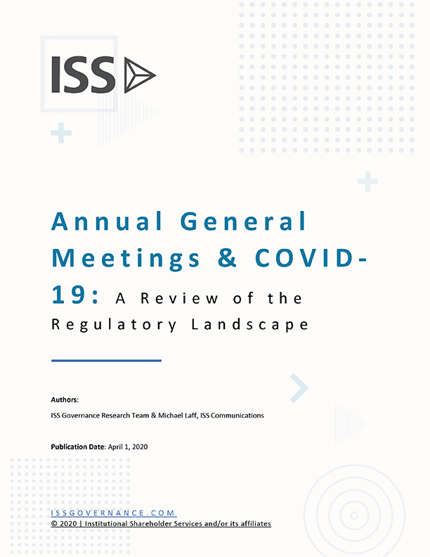 Annual General Meetings & COVID-19