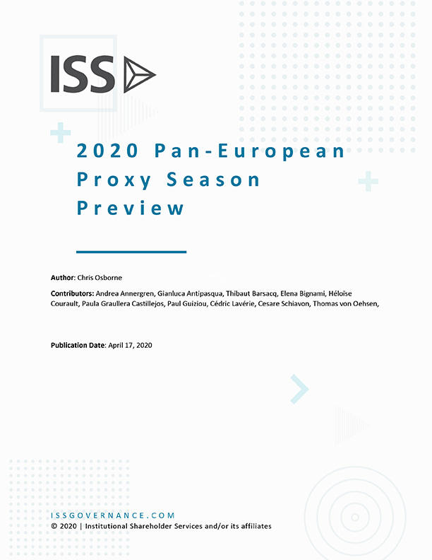2020 Pan-European Proxy Season Preview