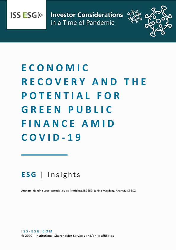 Economic Recovery and the Potential for Green Public Finance Amid COVID-19
