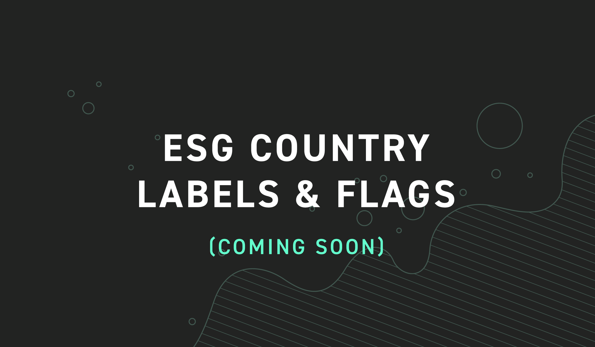 ESG Country labels & flags